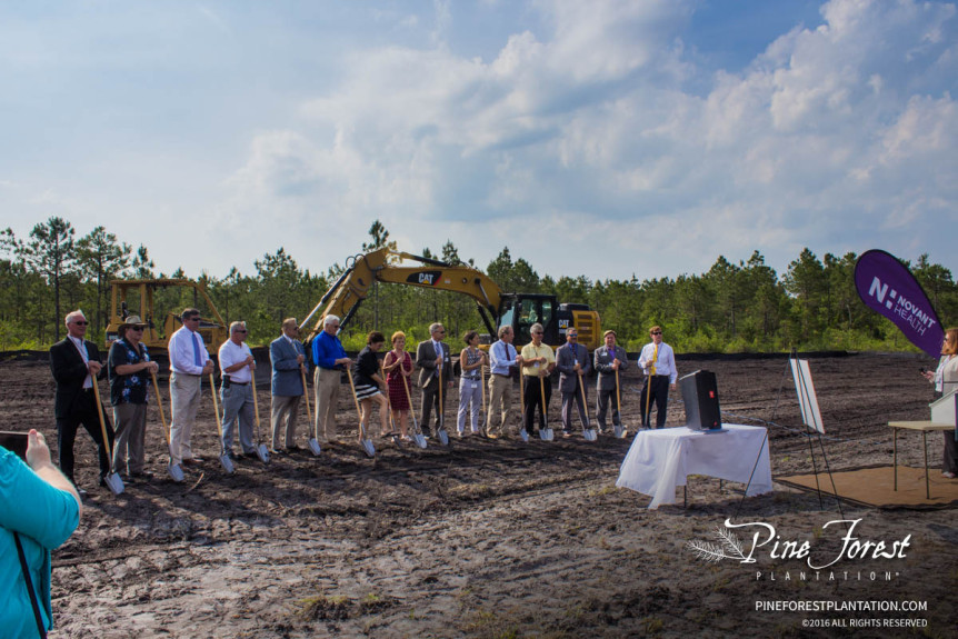 novant health groundbreaking at pine forest plantation medical campus