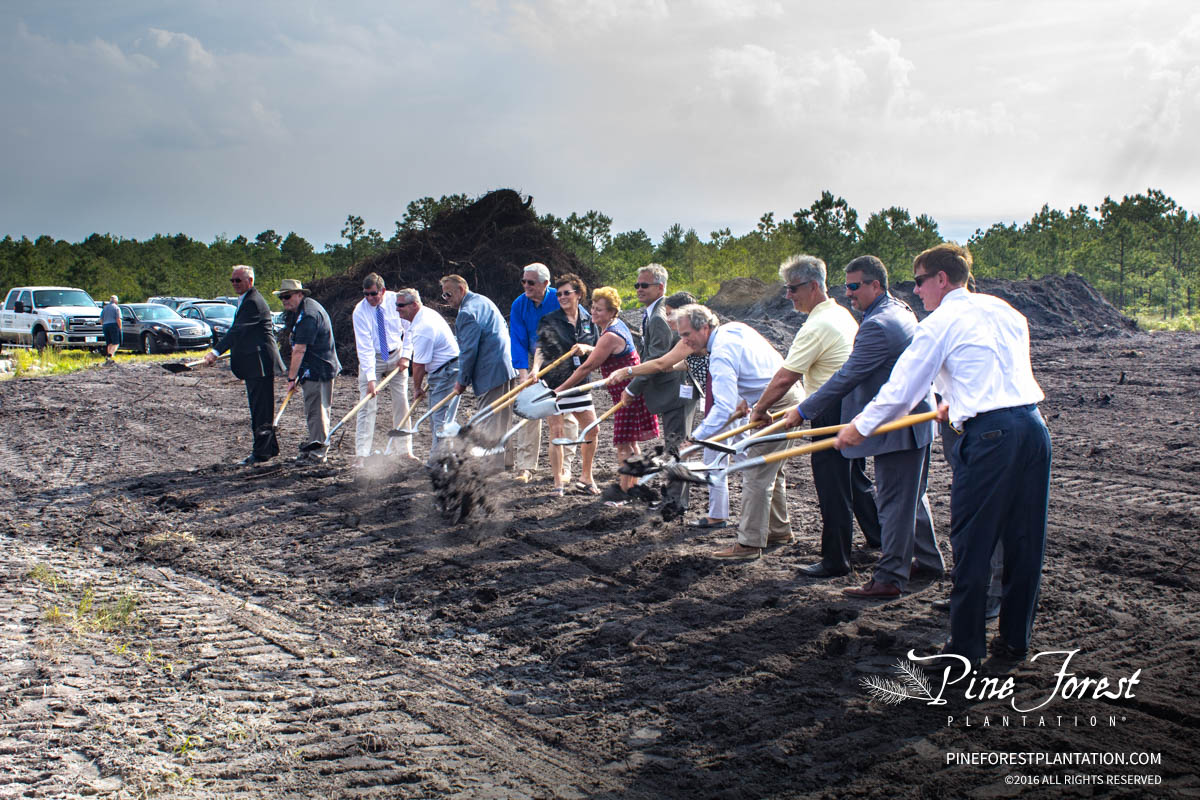 Official groundbreaking ceremony at Pine Forest Planation medical campus in Oak Island, NC.