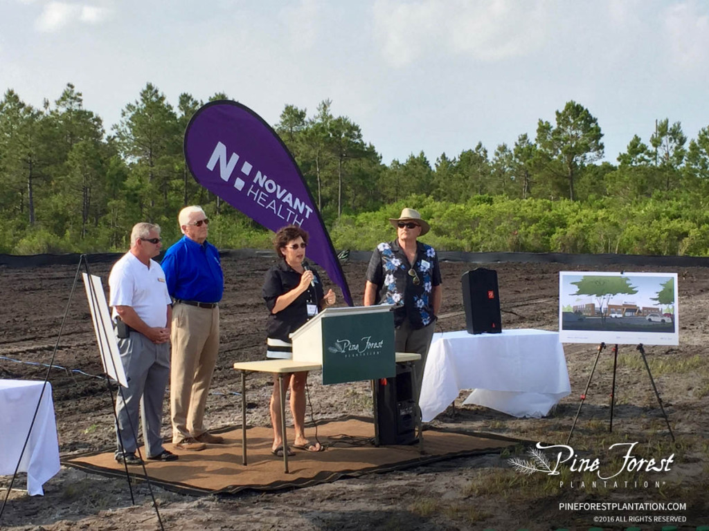 Oak Island Commissioners at Pine Forest Plantation Groundbreaking Ceremony