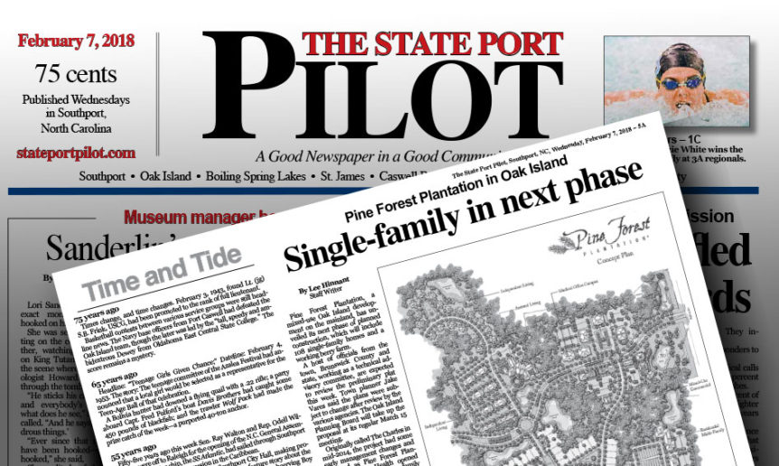 Pine Forest Residential Living Phase I feared article in State Port Pilot.
