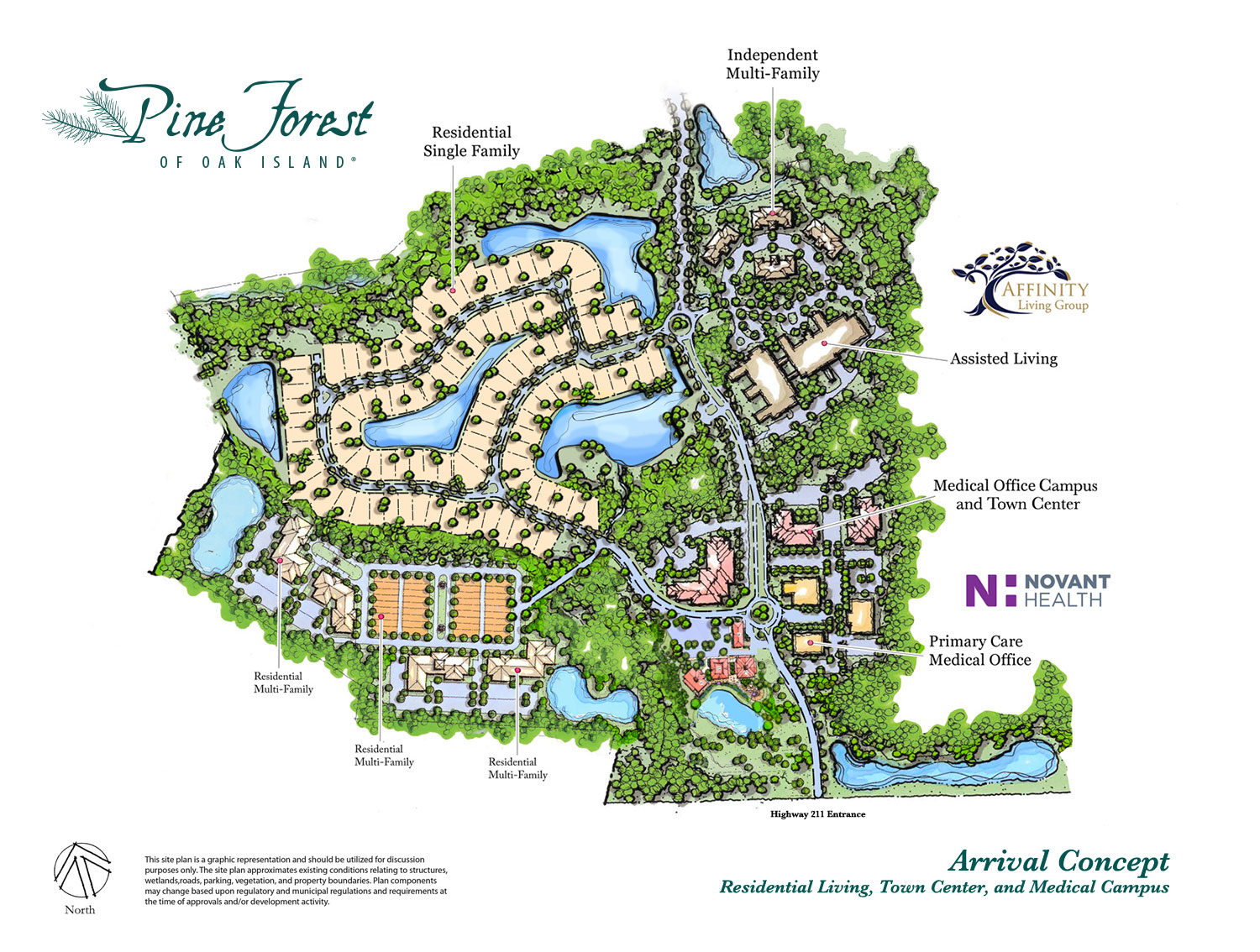 Map rendering of Senior Living at Pine Forest of Oak Island, NC