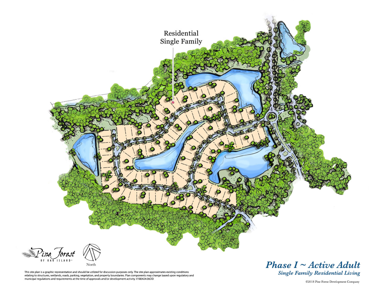 Pine Forest of Oak Island Community Residential map