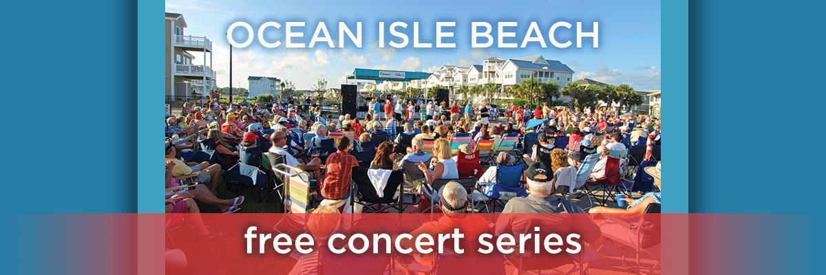 Ocean Isle Beach Free Summer Concert Series 1200x400px